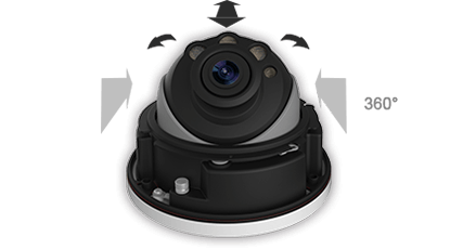 3-Axis Mechanical Design for Milesight Motorized Pro Dome Camera
